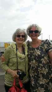 Judy Vorfeld with Jack Vorfeld's cousin Marilyn Cleghorn: Maui