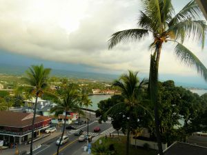 Overlooking Kona Harbor October 2014 from Judy's hotel room
