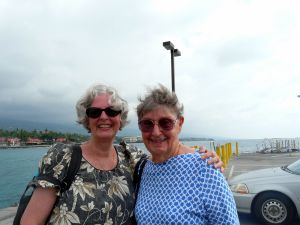 Ted's cousin, Marilyn Janssen Cleghorn and auntie, Wilma Brown Vorfeld, both of Maui.