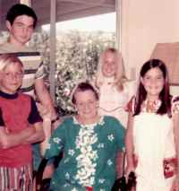 Nana with John, Jeff, Vicky, and Jan Vorfeld-1973