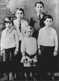 5 Crook boys, sons of Newton & Maud Burlingame Crook