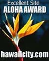 Aloha Award given by www.hawaiicity.com