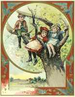 graphic of children playing in tree