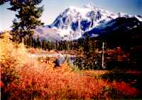 Photo of Mt Shuksan, near Mt Baker, Washington about 1950